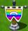 Rainbow flag on island