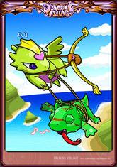 Card cupid-chameleon
