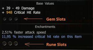 Gem-Rune slots