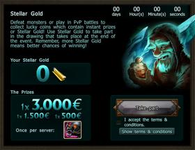 Stellar gold banner