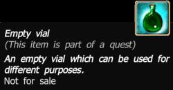 Empty vial