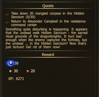 30 undead in the hidden sanctum 1