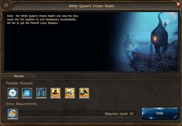 White Queen's Frozen Realm portal
