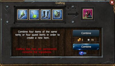 Crafting diff type-0