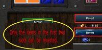 Revert Crafting First Two SlotsWarning