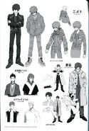 Mizuki and character concept pages