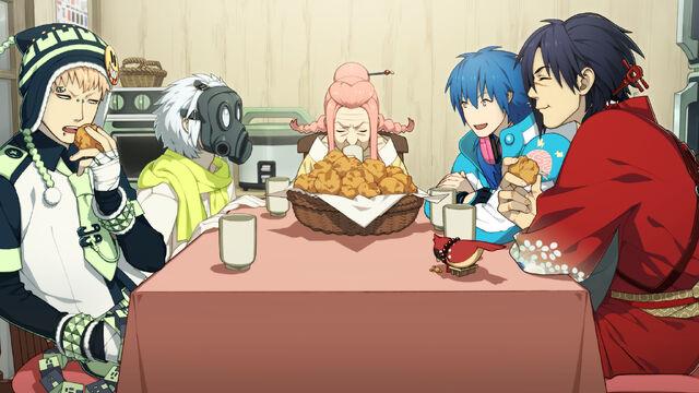 File:Everyone eating donuts.jpg