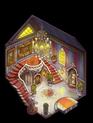 Inside Rose's mansion