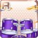 Drum Kit Purple