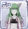 Two-Tone Long Hair Green & Purple