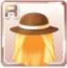 Protective Straw Hat Orange