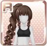 Long Curled Ponytail Black