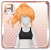 Triple-Braided Ponytail Orange