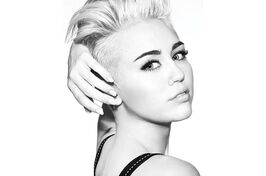 Miley cyrus blonde side