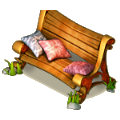 Comfortable bench deco