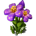 Silk flower purple