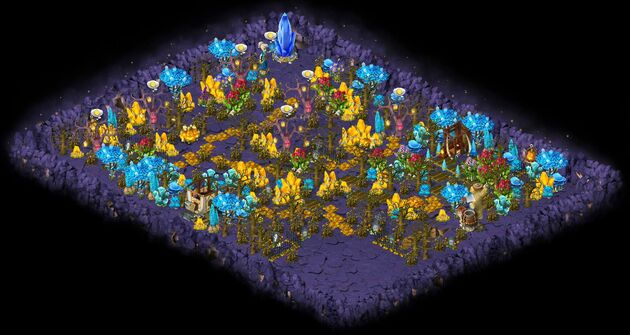 Dungeon of arcane crystal map