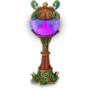 Purple lantern deco