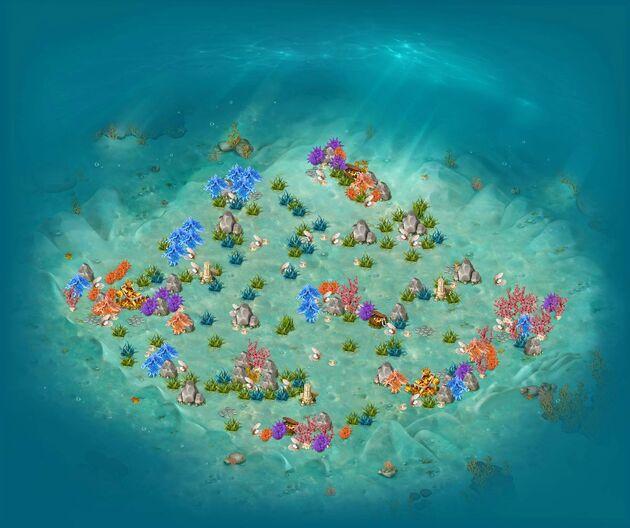 Sand bottom map