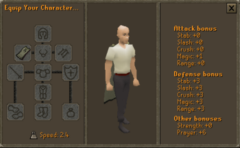 3rd Age Druidic Cape equipped