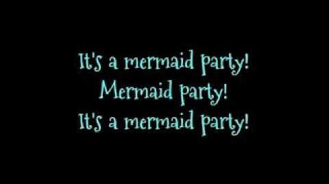Barbie movie song Mermaid Party! lyrics on screen