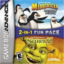 2 In 1 Double Pak Shrek 2 & Madagascar Operation Penguin for Nintendo Gameboy Advance