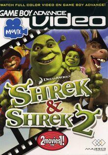 GBA Video Shrek 1 & 2 for Nintendo Gameboy Advance