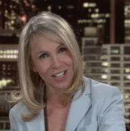 Female news anchor