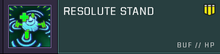 Resolute Stand title