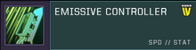 Emissive controller title