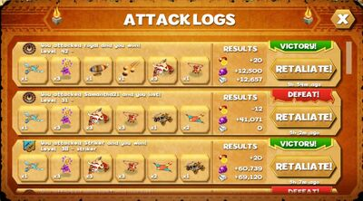 Attack logs