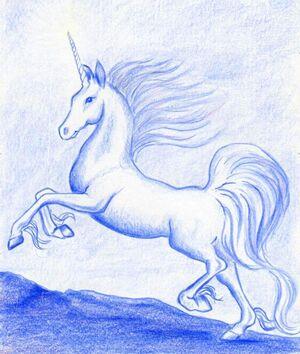 Melinda's Silver Unicorn