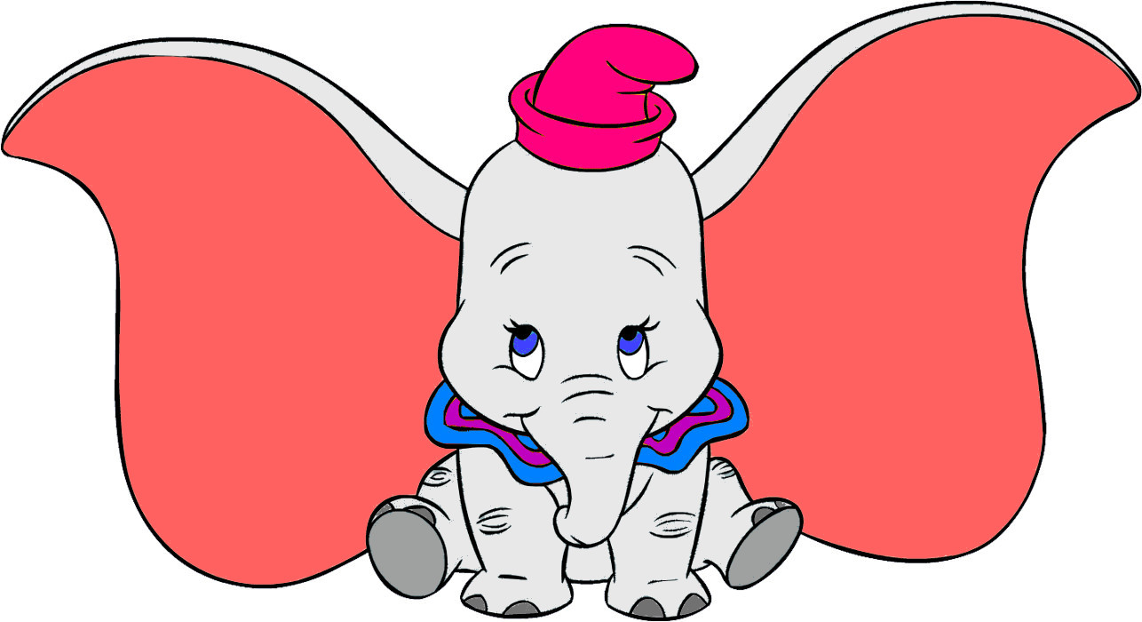 This is a graphic of Geeky Pictures of Dumbo the Elephant