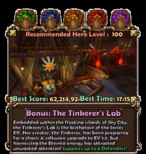 Tinkerer's Lab Panel