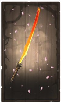 Flaming longsword