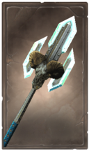 Blizzardwall glaive