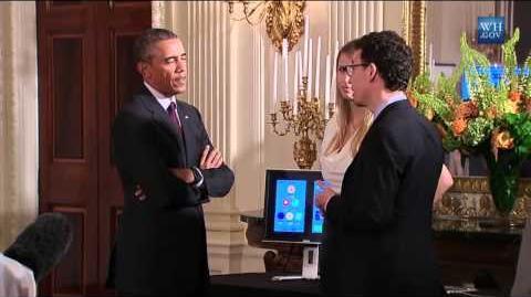 Obama Talks With Duolingo Creators