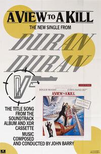 Poster duran duran a view to a kill 007