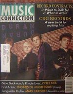 MUSIC CONNECTION JULY 1993 DURAN DURAN VINCE NEIL wikipedia magazine