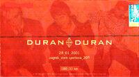 Ticket 28 jan 2001 duran