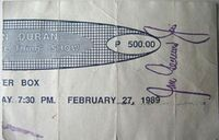 Ticket duran duran 1989 phillipines