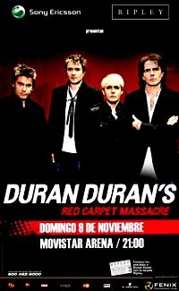 Duran duran chile dd poster