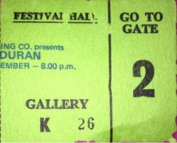Festival hall australia 1983 duran duran