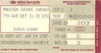 Duran duran ticket 24 june 87