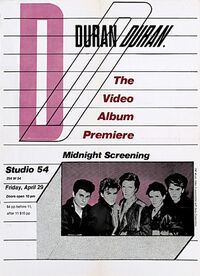 The video screening flyer studio 54 new york duran duran discography music com wikipedia