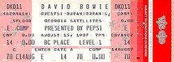 Ticket david bowie duran duran vancouver 1987