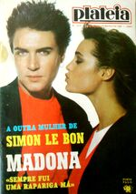 Plateia 1016 Mag 1986 Portugal Simon Le Bon Duran Duran Madonna Boy George Morten Harkest wikipedia