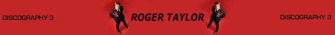 ROGER TAYLOR DISCOGRAHY DRUMMER DURAN DURAN COLLECTION QQQ