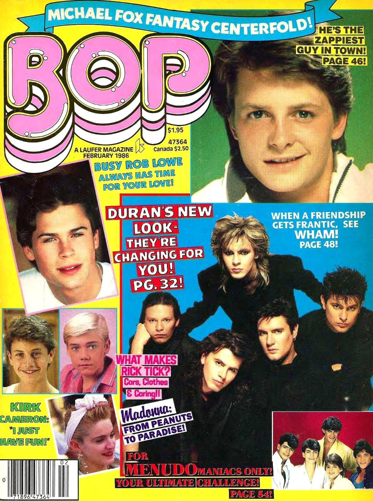 image bop teen magazine madonna menudo kirk cameron