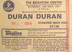 Brighton duran duran ticket